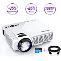 Oiiwak Q5 Full HD 1080p 2600-Lumens Portable Projector with +75% Brightness