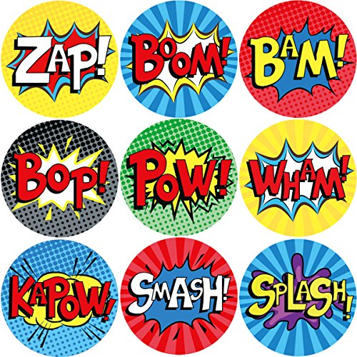 200Pcs Superhero Roll Stickers for Kids Party Supplies Birthday Decoration School -