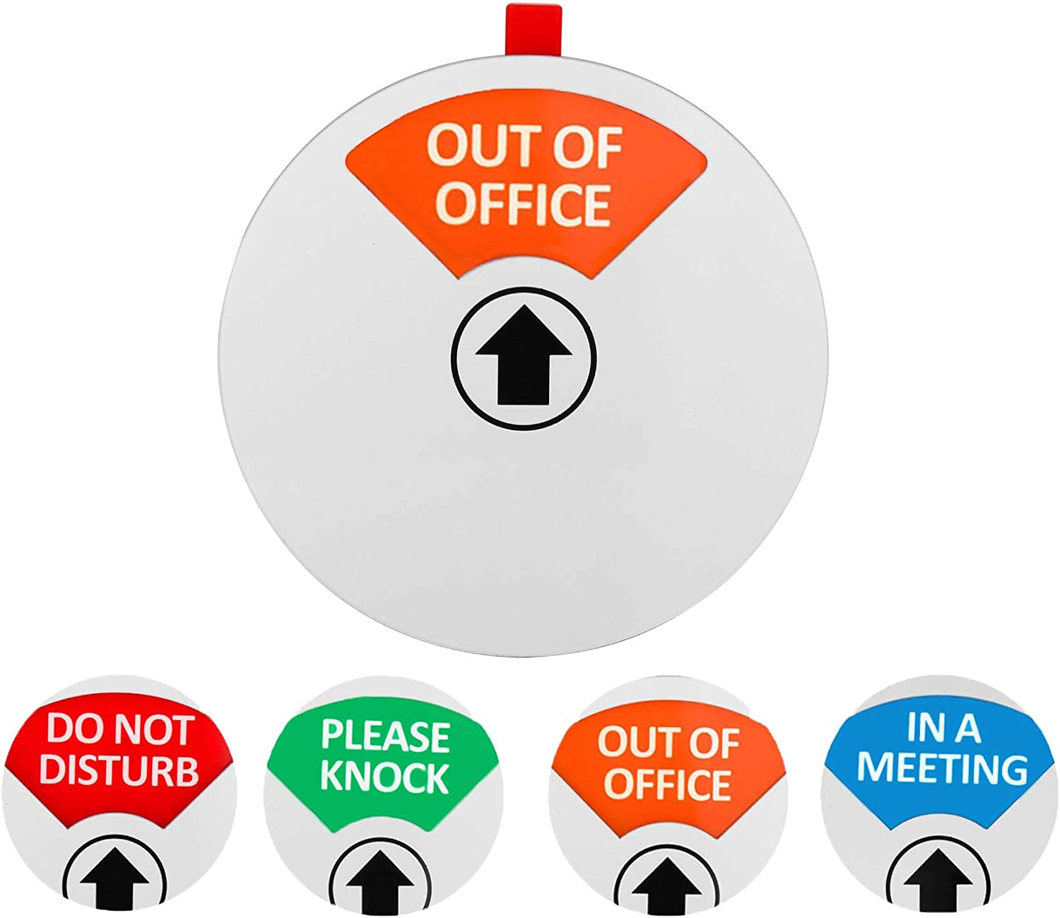 Privacy Office Sign,Do Not Disturb/Please Knock/Out of Office/in a Meeting Sign, Non-Scratch Magnetic Privacy Door Sign That Lets Others Know Whether You're Available Or Not(4.9inch,Silver)