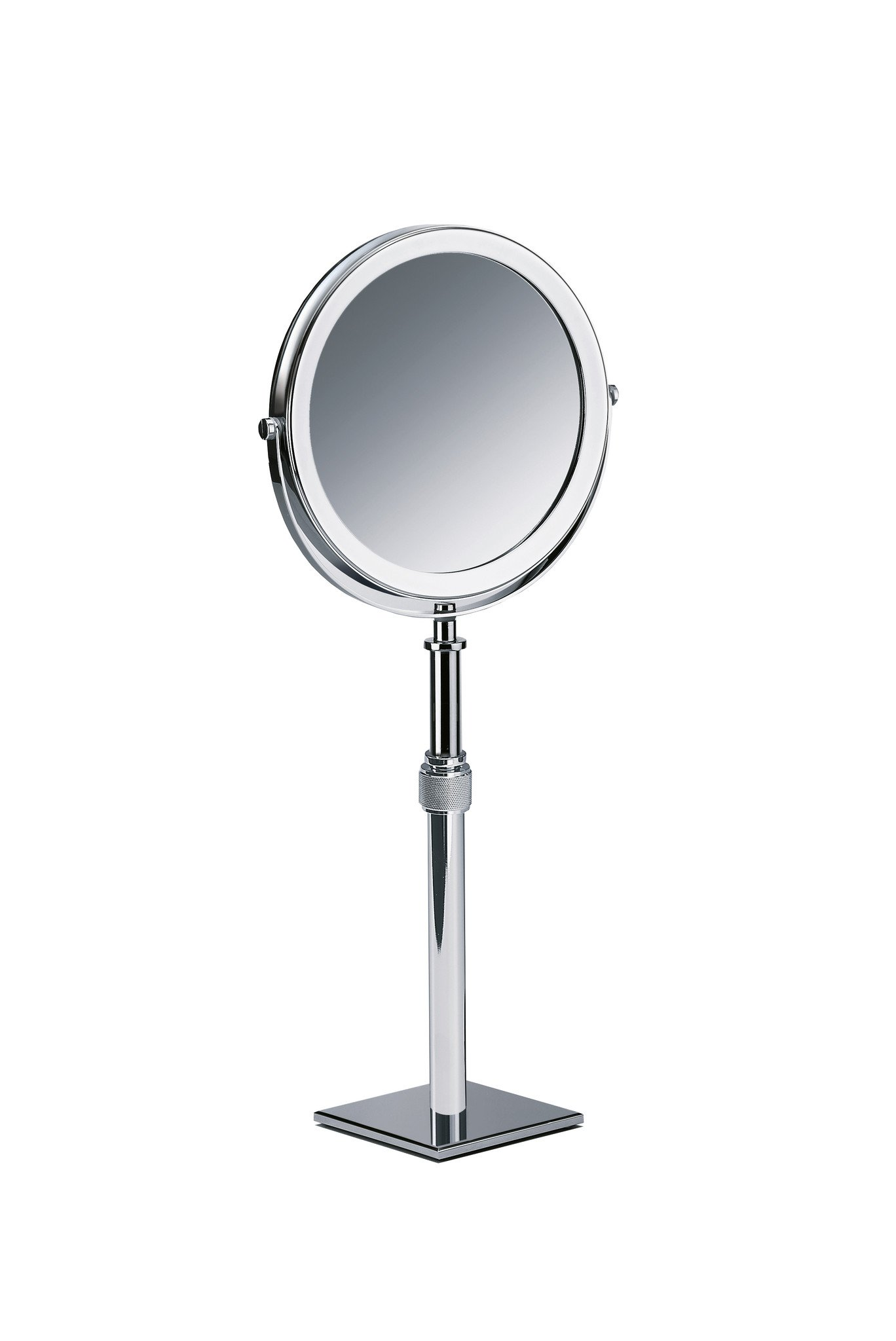 DWBA Table Height Adjustable Cosmetic Makeup 5x Magnifying Mirror (Polished Chrome)
