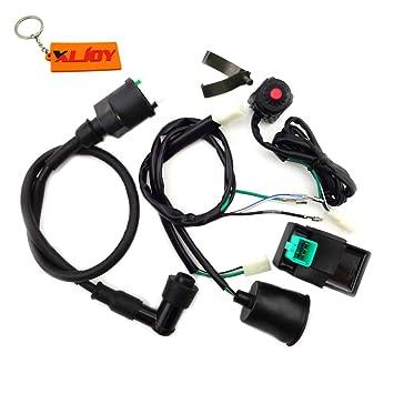 XLJOY Wiring Loom Harness Kill Switch Ignition Coil AC CDI ... on