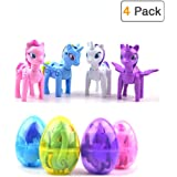 Happay Unicorn Deformation Easter Eggs with Toys Inside for Kids Boys Girls Easter Gifts Easter Basket Stuffers Fillers - 4 Pack