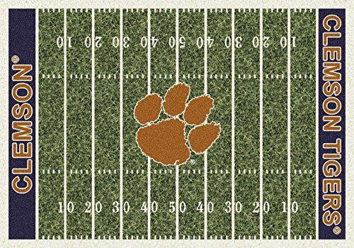 American Floor Mats Clemson Tigers NCAA College Home Field Team Area Rug 7'8