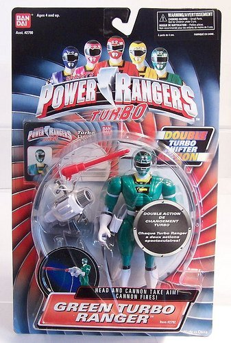 Power Rangers Turbo 1997 Double Action Turbo Shifter Green Ranger MOSC MOC RARE