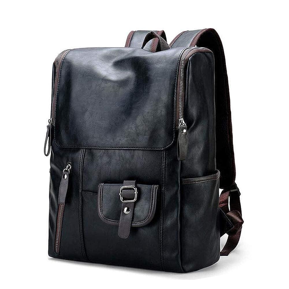 Black One Size DHFUD Backpack Men's School Bag Retro Computer Bag