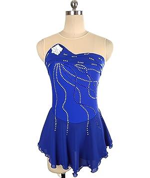 Heart&M Vestido de patinaje sobre hielo para niñas mujeres ...