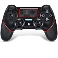 TUTUO Mando para PS4, con Touch Pad y Conector de Audio Doble vibración Antideslizante Wireless Bluetooth Gamepad…