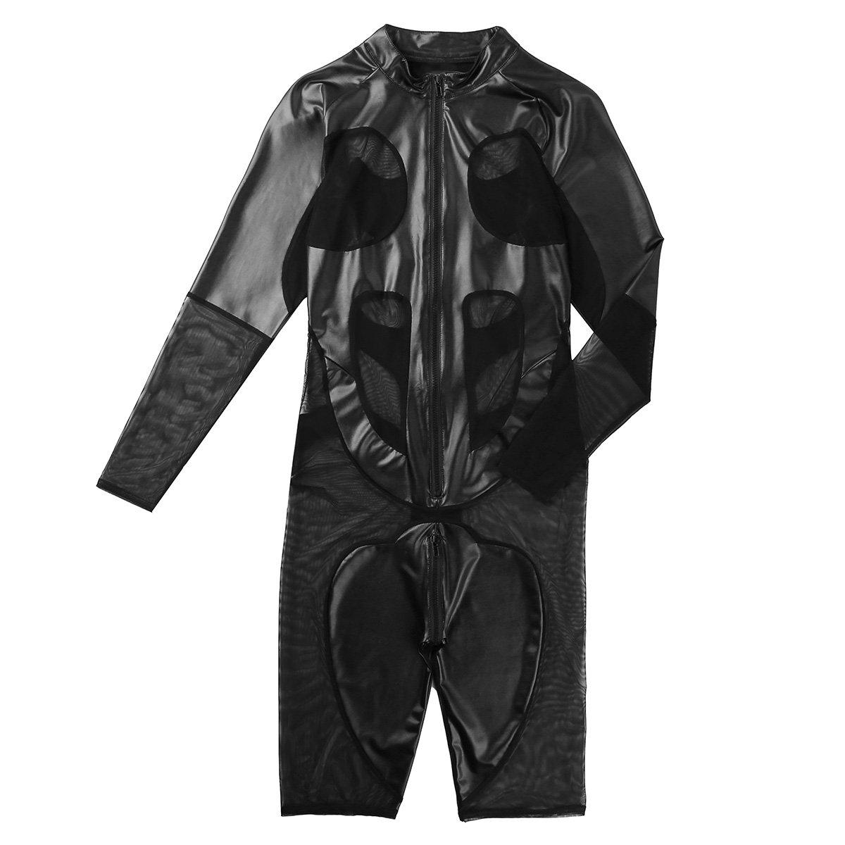 Freebily Conjunto Hombre de Lencería Bodysuit de Malla Bodysuit Lencería Hombre Sexy ec4409