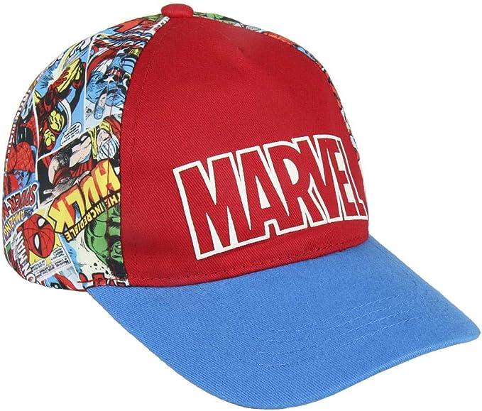 ARTESANIA CERDA Gorra Premium Marvel, Rojo (Rojo Rojo), M (Tamaño ...