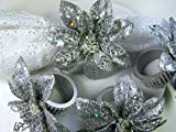 Handmade Silver Poinsettia Napkin Rings-Housewarming, Christmas Gift, Table decor, napkin rings, Wire wrapped, gift for her