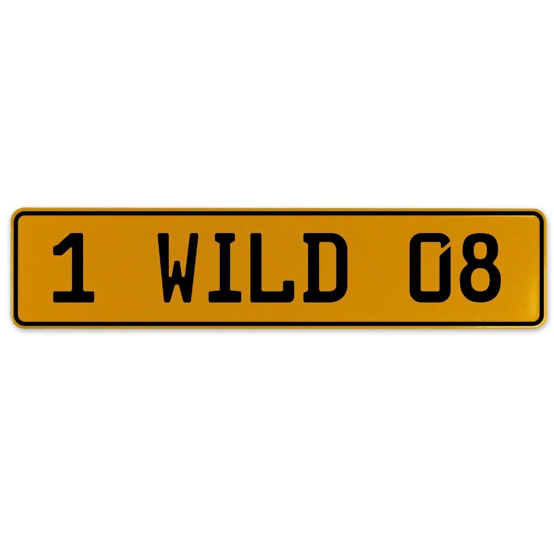 Vintage Parts 560942 1 Wild 08 Yellow Stamped Aluminum European Plate