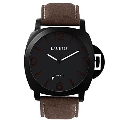 Laurels Invaders Large Black Dial Date Function Wrist Watch - For Men Men at amazon