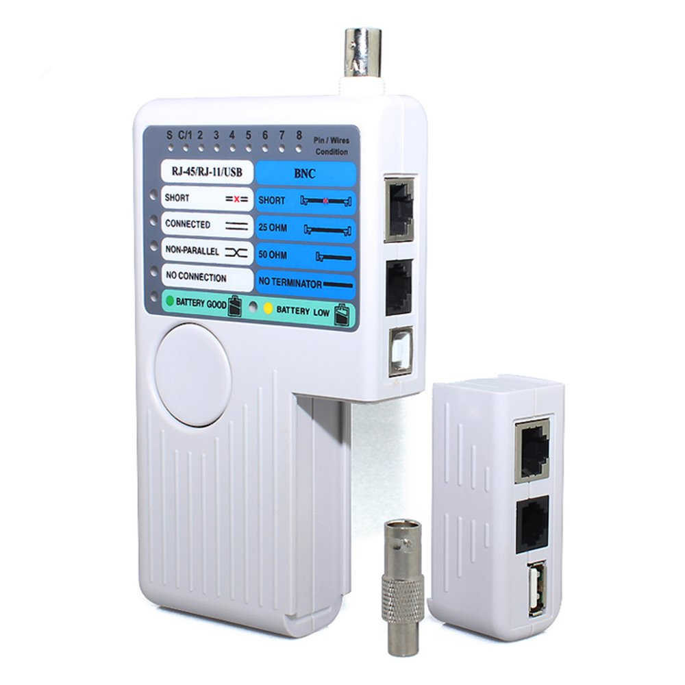 DAXGD Remote RJ11 RJ45 USB BNC LAN Network Cable Tester For UTP STP LAN Cables Tracker