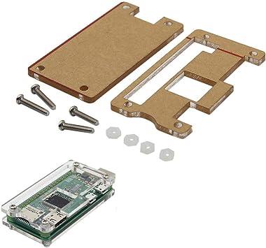 Estuche de acrílico Transparente Apto for Raspberry Pi Zero W USB-A Addon BadUSB Board Equipo Industrial: Amazon.es: Electrónica