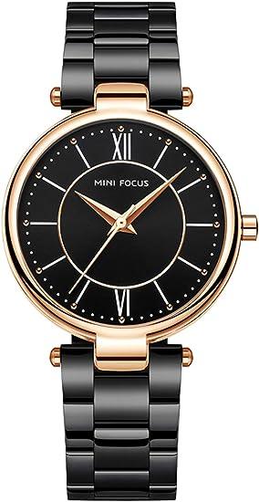 Amazon.com: Reloj de pulsera para mujer, de cuarzo, con ...