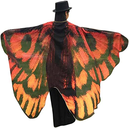 Anglewolf - Disfraz de ala de mariposa de tela suave para mujer ...
