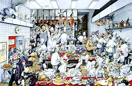 Kitchen Poster By De Roger Blachon.