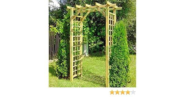 Arco de madera para jardín – Enrejado para planta enredadera con ...