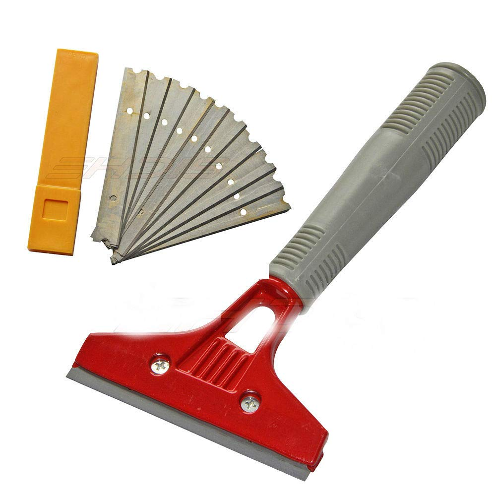 Deluxe Wallpaper Scraper Paint Stripper incl.10PCS 10cm One-sided Razor Blade US