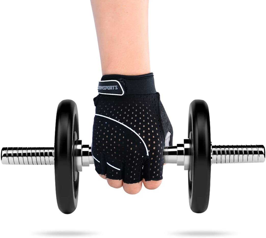 Anmsports Weight Lifting Gloves Fitness Bodybuilding Gym Workout Gloves Support for Powerlifting Best for Men /& Women Cross Training