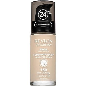 Amazon.com : Revlon Colorstay Makeup For Combination/Oily Skin, Buff [150] 1 oz : Foundation Makeup : Beauty