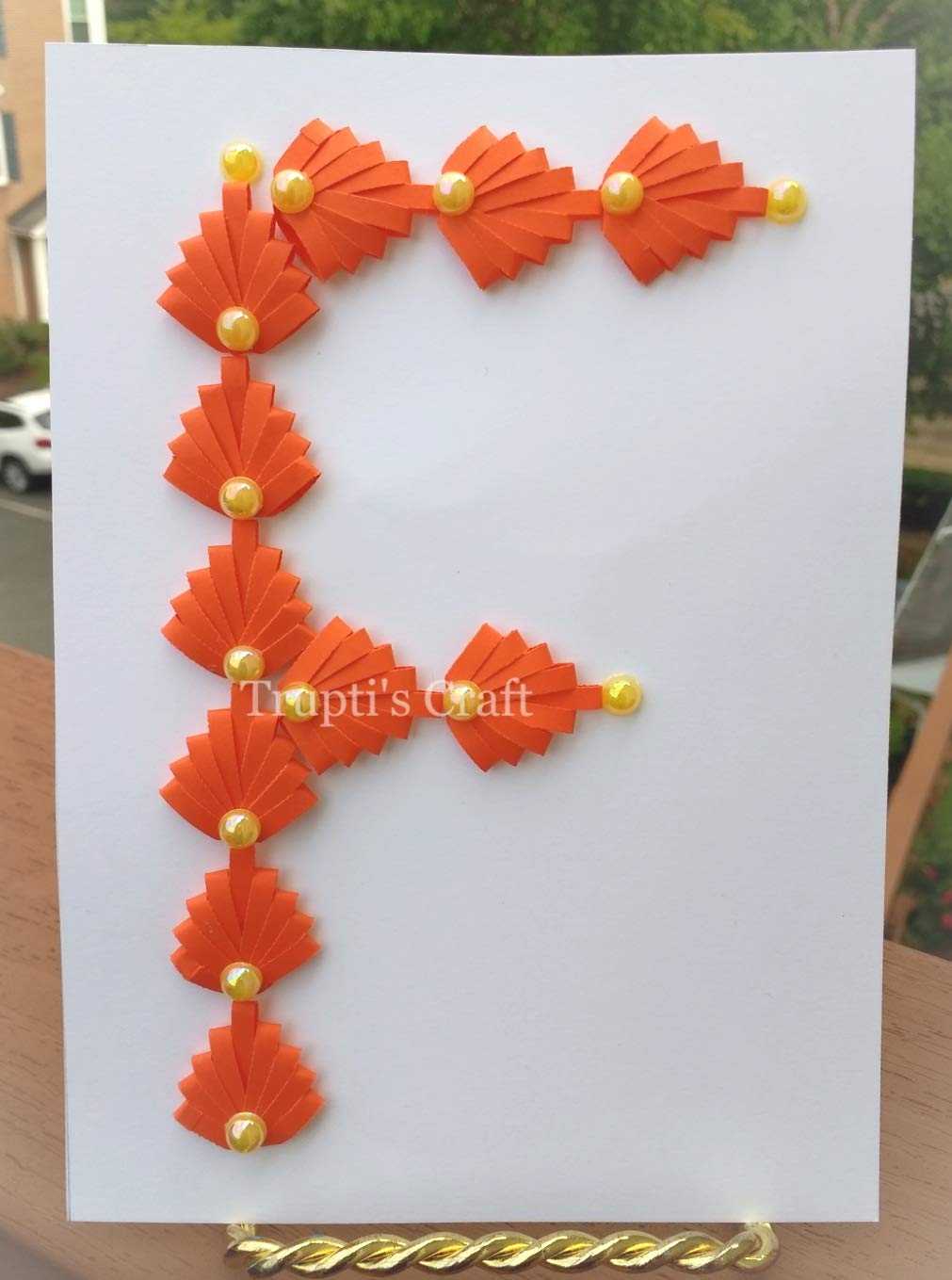 Paper Quilling Monogram 'F' Wall Frame/Wall Hanging/Home Decor/Gift / Children Room Decor/Monogram / Paper Quilling Gift