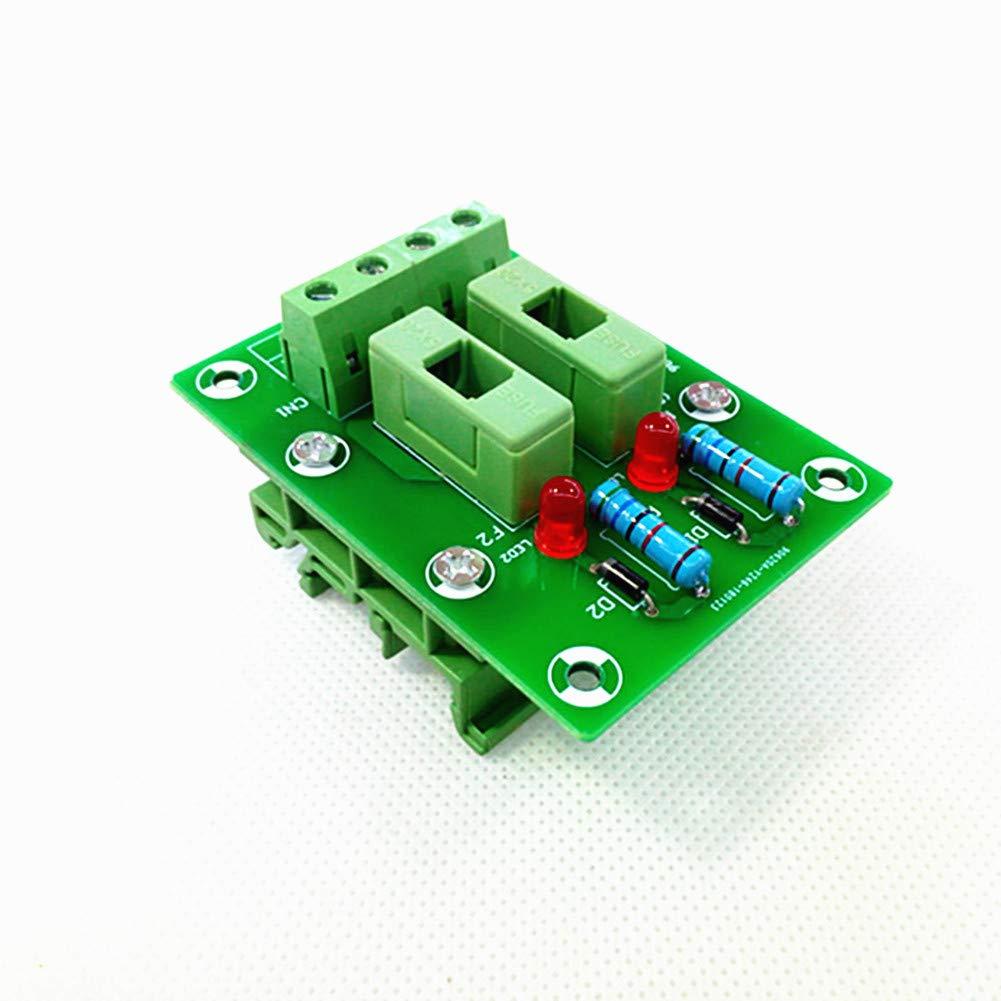 Fuse Module,2 Channels Fuse Panel Mount Power Distribution Module Board.