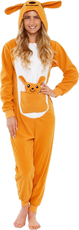 Silver Lilly Slim Fit Animal Pajamas - Adult One Piece Cosplay Kangaroo Costume