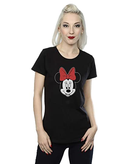Accesorios Y Amazon Disney Head es Mujer Camiseta Ropa Mouse Minnie wnqxazgA