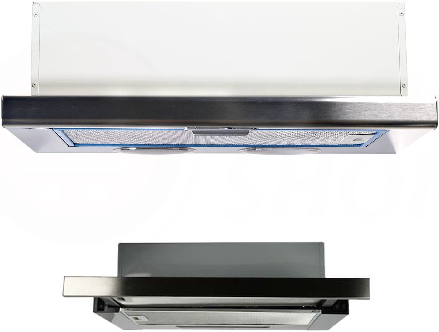 Cooker Hood Extractor Fan Wall Under Cabinet Flat Hood 600 X 180 X 285 White Amazon Co Uk Large Appliances