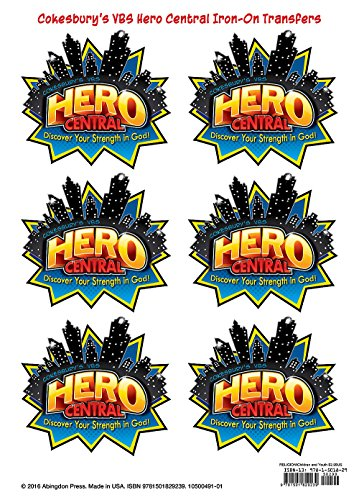 VBS Hero Central Iron-On Transfers (Pkg of 12): Discover Your Strength in (Central Supply)
