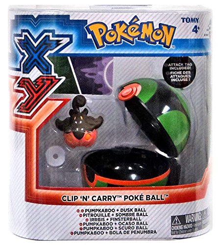 Pokemon X & Y Clip n Carry Pokeball Pumpkaboo & Dusk Ball Figure (Dusk Ball)