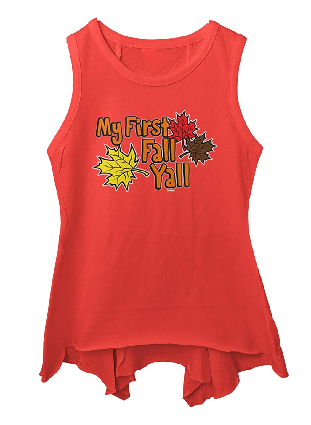 Autumn Leaves Toddler//Youth Sleeveless Backswing Tcombo My First Fall Yall