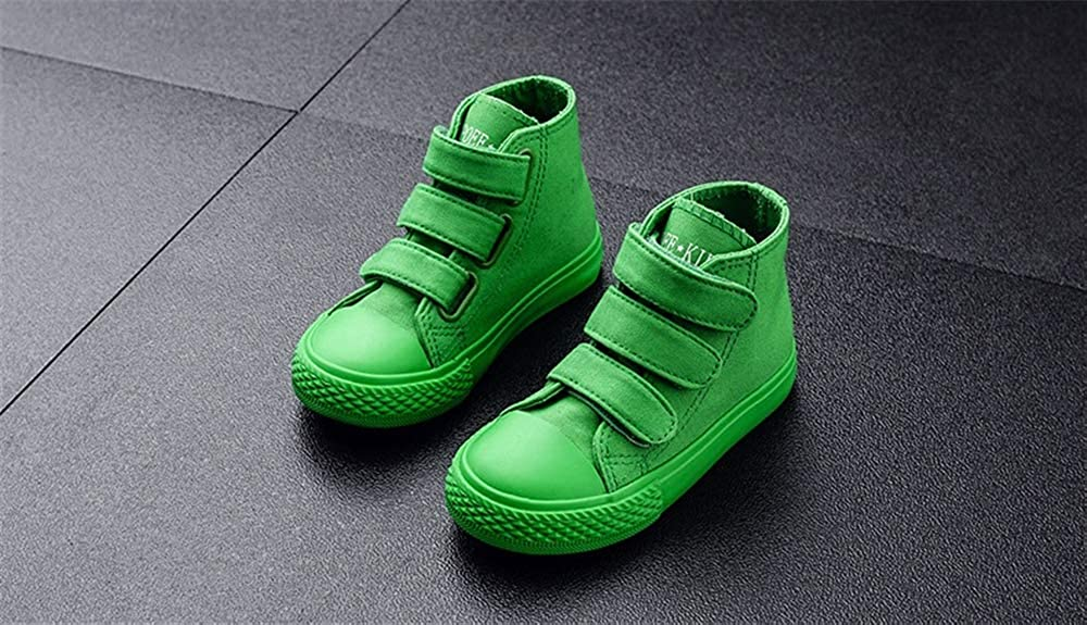 Toddler//Little Kid//Big Kid Boys Girls High-Top Casual Strap Canvas Sneaker
