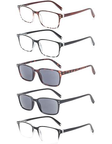 cbf8fa90b554c7 Reading Glasses Men Women Retro Comfort Readers 5 Packs Spring Hinge Glasses  of Reading