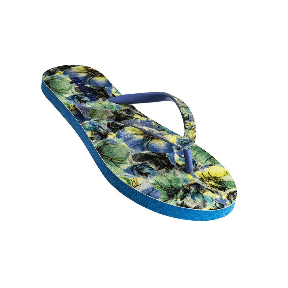 629be25dd Rockin womens flip flop sandals floral print beach sandals flower bouquet  cute design vacation footwear flip