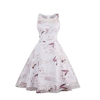 1826b3da44 Ao Fer Nema Women Summer Plus Size Vintage Floral Print O-Neck ...