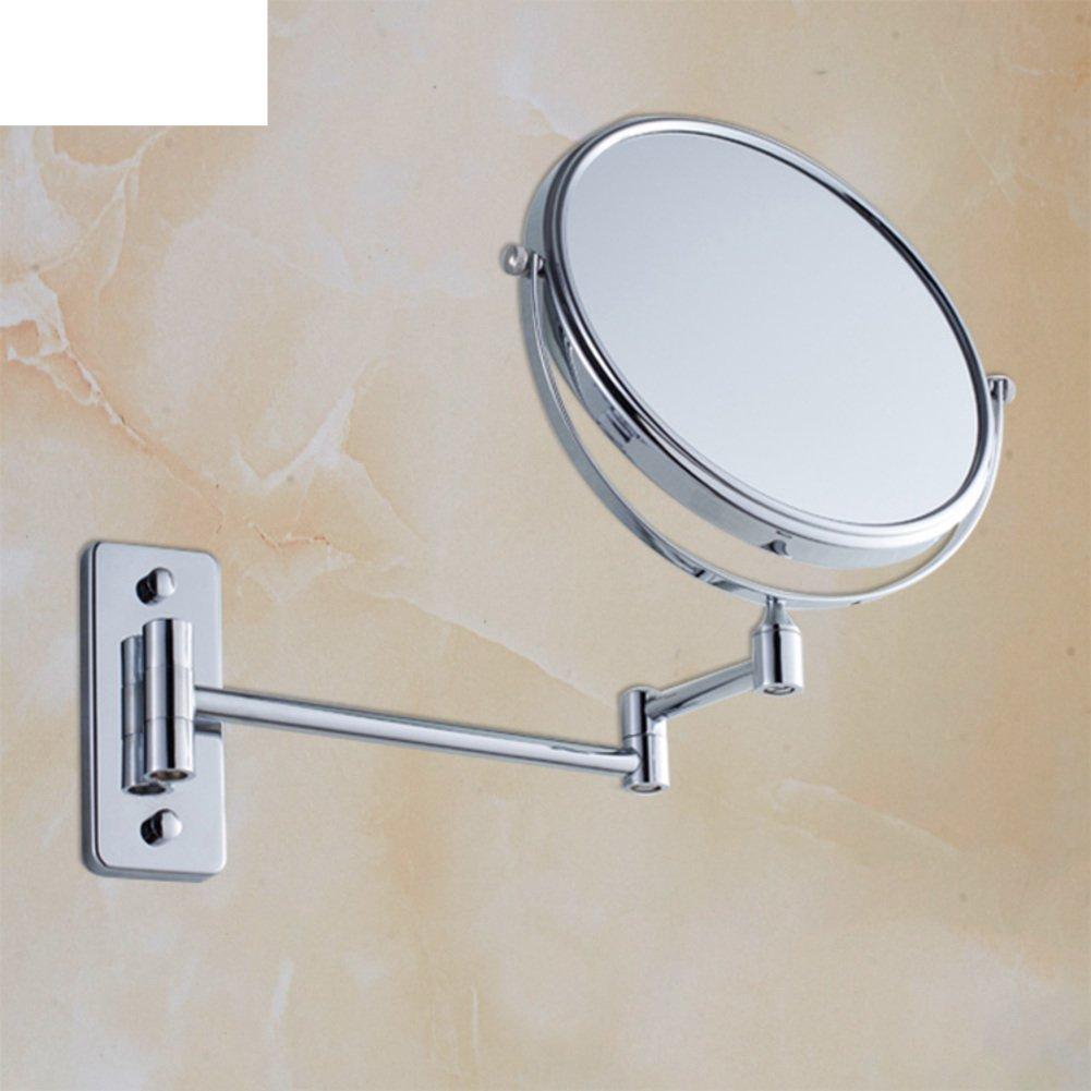 new Bathroom wall rotating mirror/ folding mirror/ toilet telescopic mirror/ double-sided magnified mirror for bathroom-B
