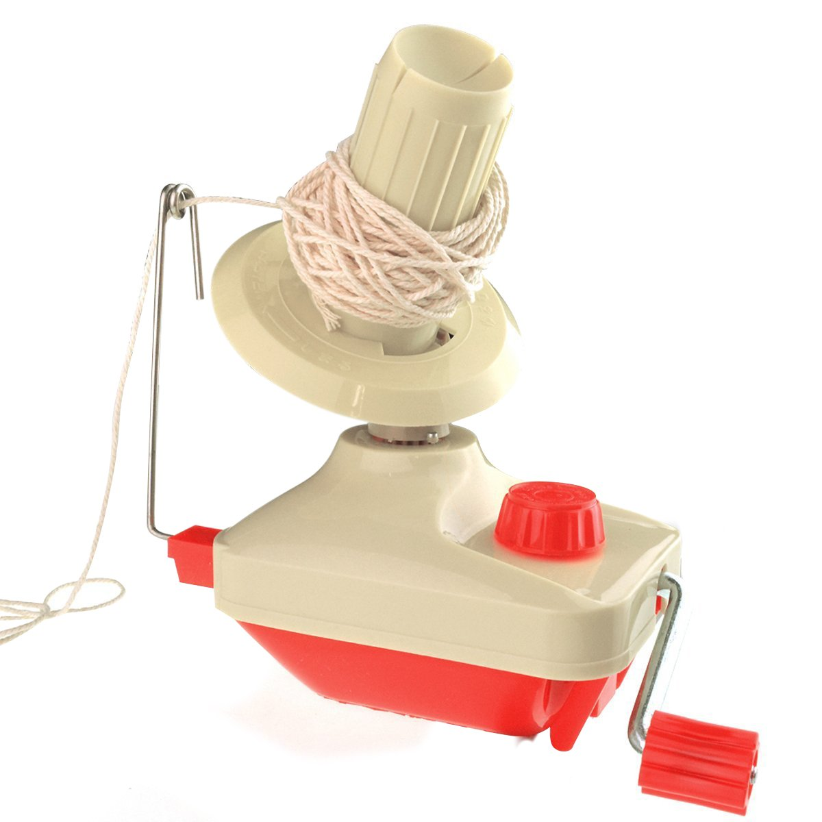 Bobbin Winder Yarn Winder Table Clasp, Marrywindix Hand Operated Manual Wool Winder Holder for Swift Yarn Fiber String Ball
