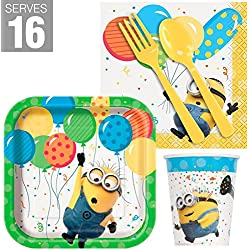 BirthdayExpress Despicable Me Party Supplies Minions Snack Pack for 16