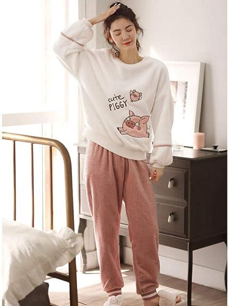 Bayrick Pijama Invierno Mujer Polar,Manga Larga Linda Pijama ...