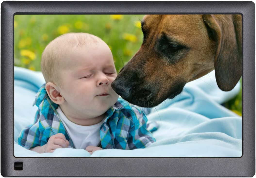 Digital Picture Frame WiFi,LOVCUBE 10 Inch Smart Digital Picture Frame with 10GB Free Cloud Storage,Share Moments Instantly via APP or Web Portal. IPS 1280 x 800 HD Display Motion Sensor Black