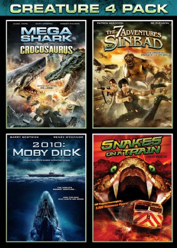 VHS : Mega Shark Vs Crocosaurus / The 7 Adventures of Sinbad / 2010: Moby Dick / Snakes on a Train