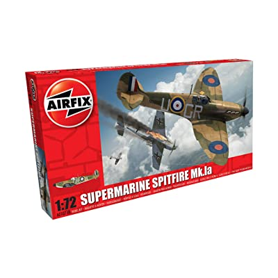 Airfix A01071B Supermarine Spitfire Mkia 1:72 Model Building Kit (36 Piece), Multicolor: Toys & Games