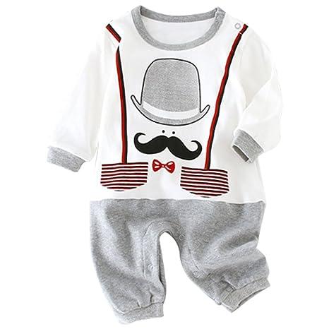 KINDOYO Invierno Romper Ropa de Una Pieza primavera Prenda Pijama de Bebé Niños Niñas,Cálido