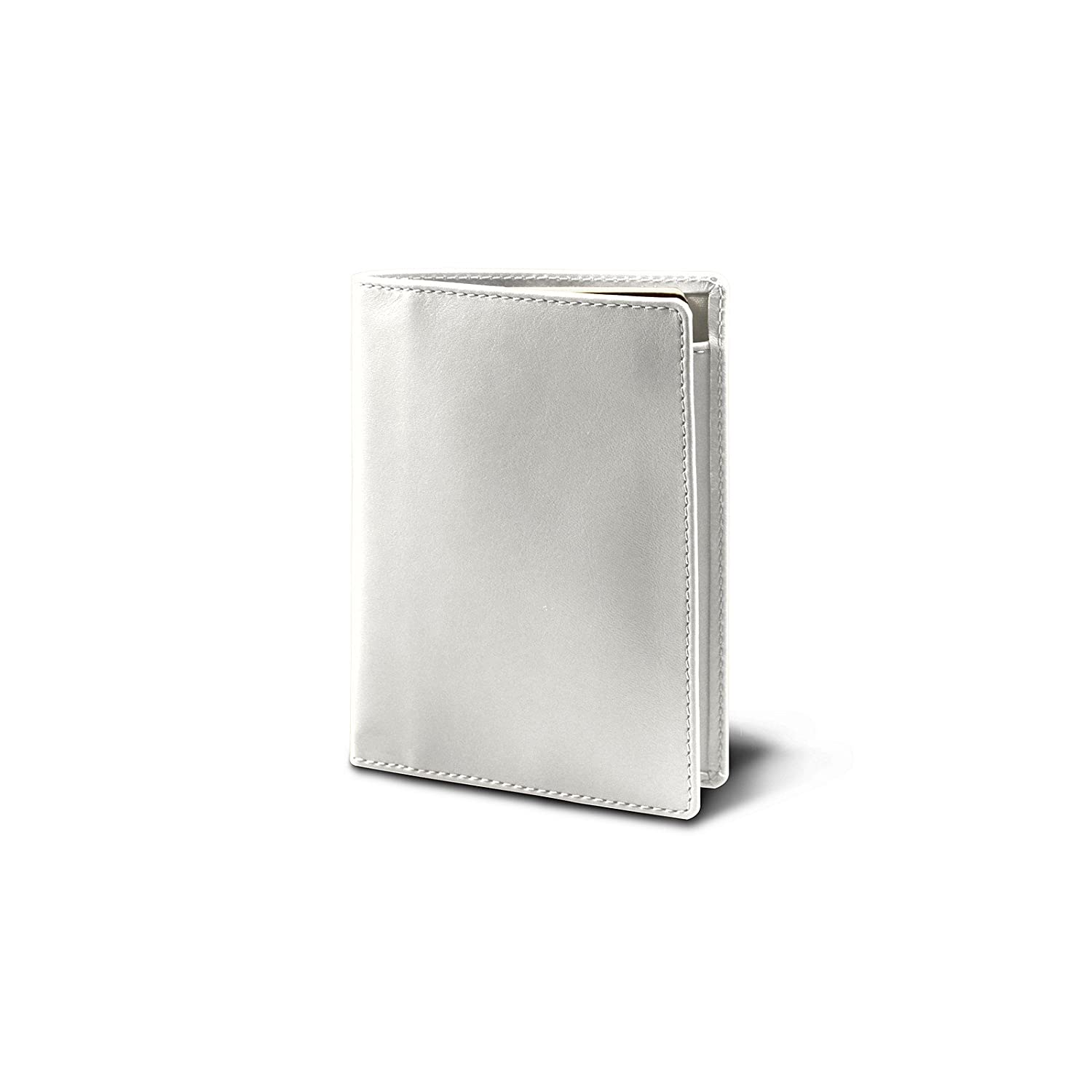 Lucrin Off-White Passport and Loyalty Card Holder Smooth Leather