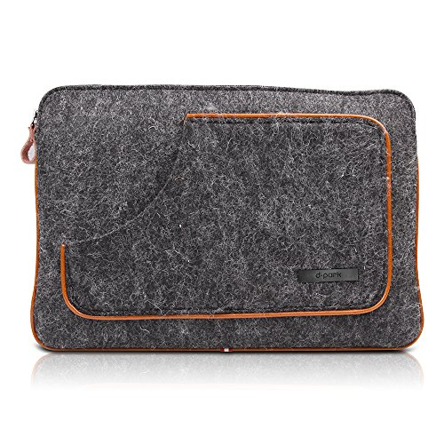 D-park® For Microsoft Surface Pro 4/Pro 3 Dark Grey Pure Wool Fabric Case Bag Fit For 12-inch Tablet
