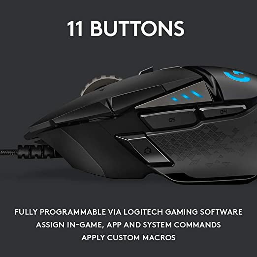 Logitech Logitech G502 Hero High Performance Gaming Mouse Candado para Equipaje 2 Centimeters Negro (Black): Amazon.es: Equipaje