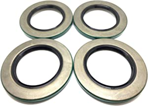 (Pack of 4) WPS Trailer Hub Wheel Grease Seals 10-10 (21333TB) for 5200-7000# Axles 2.125'' X 3.376''