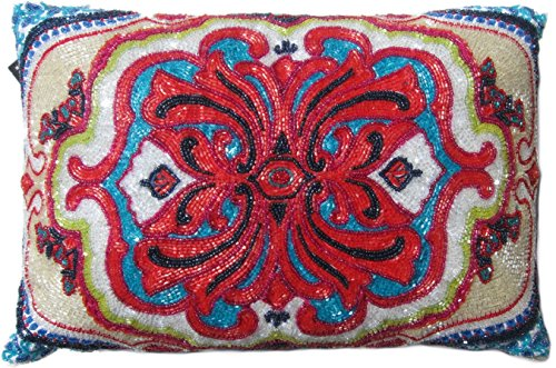 Max Studio Beaded Decorative Damask Ornate Toss Pillow Cover 40 Delectable Max Studio Home Decorative Pillow